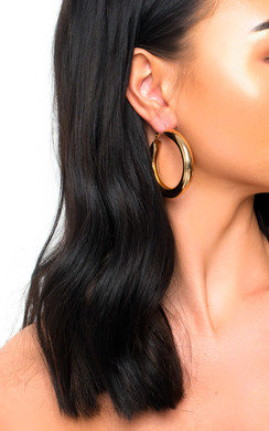 View the Beth Chunky Hoop Earrings  online at iKrush
