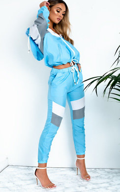 View the Beth Slim Fit Stripe Panel Tracksuit online at iKrush