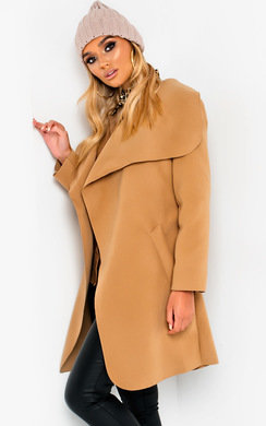 View the Bethan Long-Sleeved Waterfall Coat online at iKrush