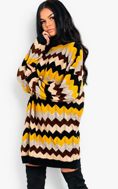 View the Bethany Polo Neck Knitted Jumper Dress online at iKrush
