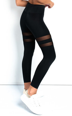 View the Betty Lycra Mesh Panel Leggings Straight   online at iKrush