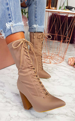 View the Bexley Stretch Lace Up Ankle Boots online at iKrush