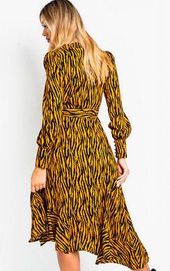 View the Bianca Printed Maxi Frill Dress online at iKrush