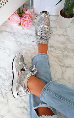 View the Biba Metallic Glitter Trainers  online at iKrush