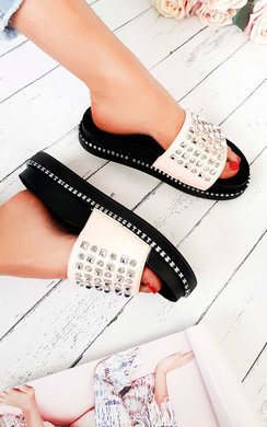 View the Bindi Studded Chunky Sliders online at iKrush