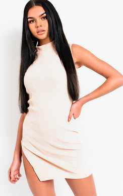 View the Blythe High Neck Collar Bandage Dress online at iKrush