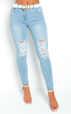 View the Bonnie Distressed Skinny Jeans online at iKrush