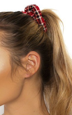 View the Bonnie Tartan Fabric Hair Scrunchie online at iKrush
