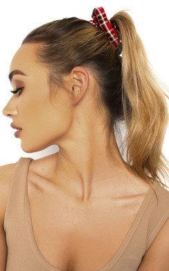 View the Bonnie Tartan Fabric Hair Scrunchie online at iKrush