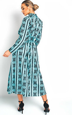 View the Breana Belted Print Maxi Dress online at iKrush