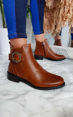 View the Bree Buckle Ankle Boots  online at iKrush