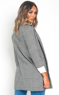 View the Brendi Checked Blazer Jacket online at iKrush
