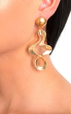 View the Briana Statement Squiggle Drop Earrings online at iKrush