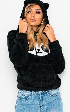 View the Brielle Faux Fur Panda Ear Jumper online at iKrush