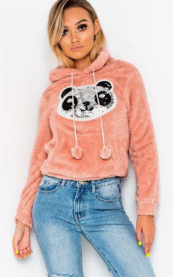 View the Brielle Faux Fur Panda Ear Jumper online at iKrush