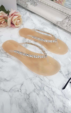 View the Brina Diamante Flip Flop Sandals online at iKrush