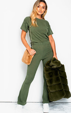 View the Brit Ribbed Lounge Co-ord online at iKrush