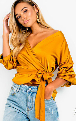 View the Britt Ruffled Kimono Wrap Top online at iKrush