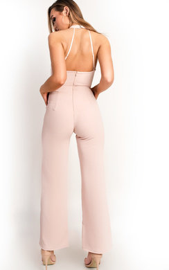 View the Brooke Caged Wide Leg Jumpsuit online at iKrush