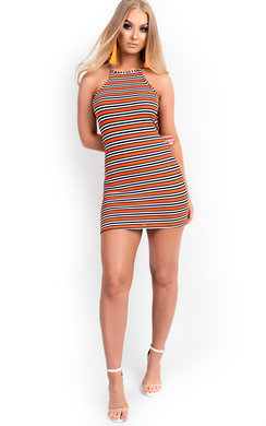 View the Brooke Stripe Bodycon Dress online at iKrush