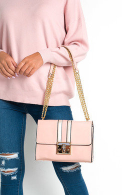 View the Brooke Striped Shoulder Bag online at iKrush