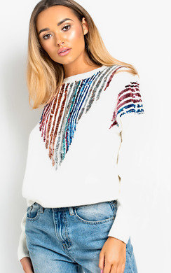 View the Cadence Sequin Oversized Jumper  online at iKrush