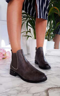 View the Cadence Stud Detail Ankle Boots online at iKrush