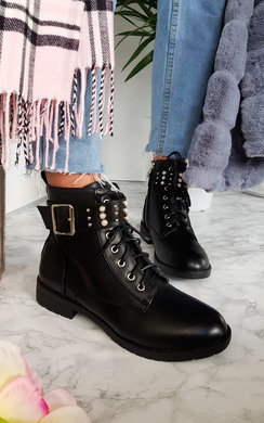 View the Cait Embellished Biker Boots online at iKrush