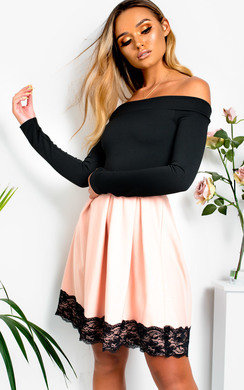 View the Caitlin Off Shoulder Skater Dress online at iKrush