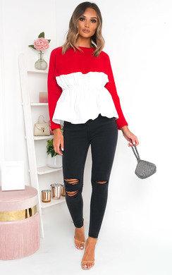 View the Cameron Shirt Hem Jumper online at iKrush