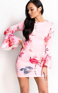 View the Camila Bell Sleeve Bodycon Dress online at iKrush