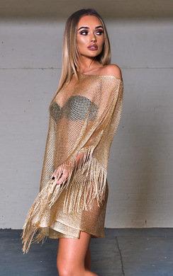 View the Camila Mesh Detail Kaftan Top online at iKrush