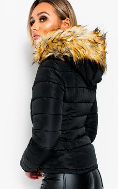 View the Camile Padded Hooded Jacket online at iKrush