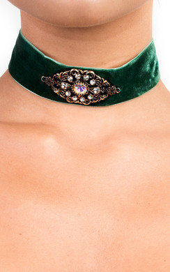 View the Camilla Velvet Jewelled Choker online at iKrush
