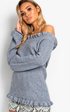 View the Camille Frill Off Shoulder Knit Jumper  online at iKrush