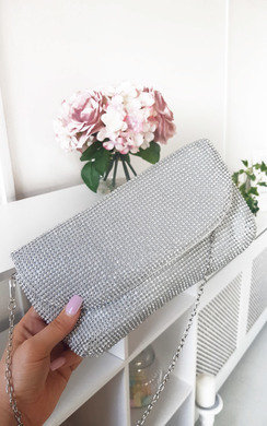 View the Candice Diamante Clutch Bag online at iKrush
