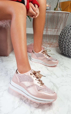 View the Candy Chunky Sole Glitter Sport Trainer online at iKrush