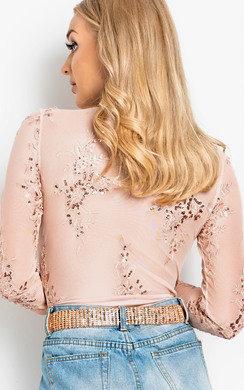 View the Capri V Neck Embellished Bodysuit online at iKrush
