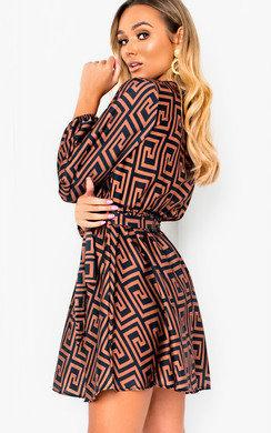 View the Cara Printed Wrap Dress online at iKrush