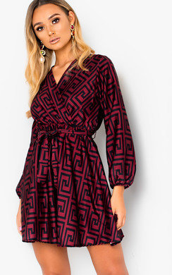 View the Cara Printed Wrap Dress online at iKrush