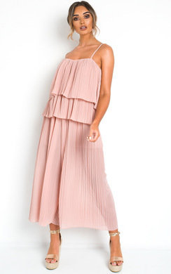View the Cardi Pleated Overlay Jumpsuit online at iKrush