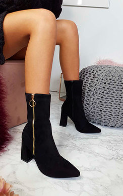 View the Carla Zip Heeled Boots online at iKrush