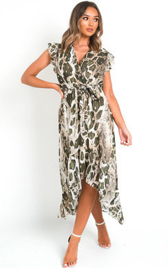 View the Carmen Snake Print Maxi Dress online at iKrush