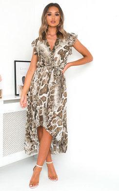 View the Carmen Snake Print Maxi Dress online at iKrush