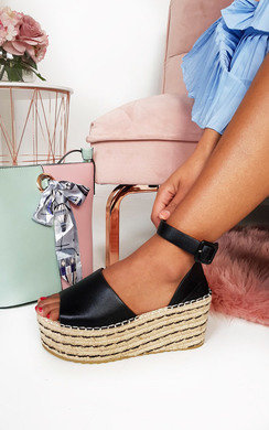 View the Carrie Flatform Wedged Sandals online at iKrush