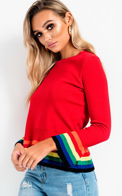 View the Carrie Frill Cuff Hem Jumper online at iKrush