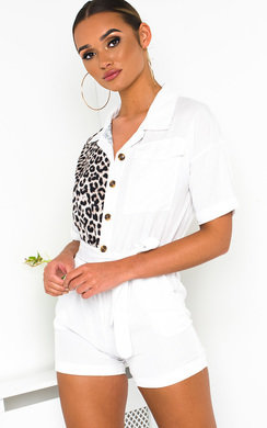 View the Carrie Leopard Print Playsuit online at iKrush