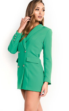 View the Carris Button Blazer Dress online at iKrush