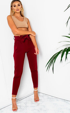 View the Carris Paperbag Tie Tailored Trousers online at iKrush