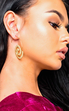 View the Casey Swirl Drop Earrings  online at iKrush